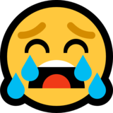 Loudly Crying Face on Microsoft Windows 10 Creators Update