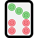 Mahjong Tile Seven of Circles on Microsoft Windows 10 Creators Update