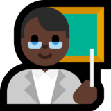 Man Teacher: Dark Skin Tone on Microsoft Windows 10 Creators Update