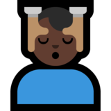 Man Getting Massage: Dark Skin Tone on Microsoft Windows 10 Creators Update