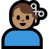 Man Getting Haircut: Medium Skin Tone on Microsoft Windows 10 Creators Update