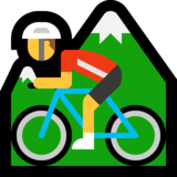 Man Mountain Biking on Microsoft Windows 10 Creators Update