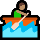 Man Rowing Boat: Medium Skin Tone on Microsoft Windows 10 Creators Update