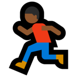 Man Running: Medium-Dark Skin Tone on Microsoft Windows 10 Creators Update