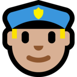 Police Officer: Medium-Light Skin Tone on Microsoft Windows 10 Creators Update