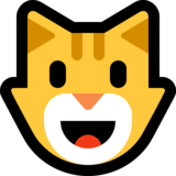 Grinning Cat on Microsoft Windows 10 Creators Update