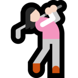 Woman Golfing: Light Skin Tone on Microsoft Windows 10 Creators Update