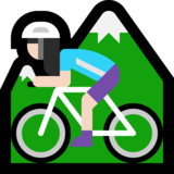 Woman Mountain Biking: Light Skin Tone on Microsoft Windows 10 Creators Update