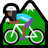 Woman Mountain Biking: Medium-Dark Skin Tone on Microsoft Windows 10 Creators Update
