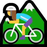 Woman Mountain Biking on Microsoft Windows 10 Creators Update