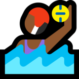 Woman Playing Water Polo: Medium-Dark Skin Tone on Microsoft Windows 10 Creators Update