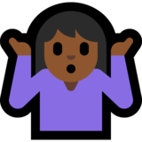 Woman Shrugging: Medium-Dark Skin Tone on Microsoft Windows 10 Creators Update