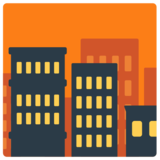 Cityscape at Dusk on Mozilla Firefox OS 2.5