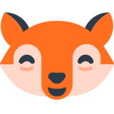 Grinning Cat with Smiling Eyes on Mozilla Firefox OS 2.5