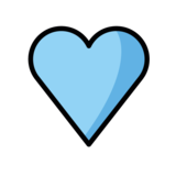 Blue Heart on OpenMoji 1.0