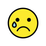 Crying Face on OpenMoji 1.0