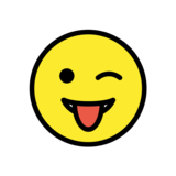 Winking Face with Tongue on OpenMoji 1.0