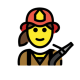 Woman Firefighter on OpenMoji 1.0