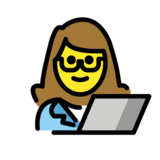 Woman Technologist on OpenMoji 1.0