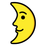 First Quarter Moon Face on OpenMoji 1.0