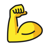 Flexed Biceps on OpenMoji 1.0