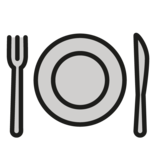 Fork and Knife with Plate on OpenMoji 1.0