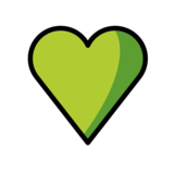 Green Heart on OpenMoji 1.0