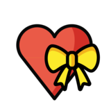 Heart With Ribbon on OpenMoji 1.0