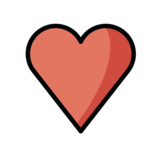 Red Heart on OpenMoji 1.0