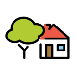 House with Garden on OpenMoji 1.0