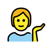 Person Tipping Hand on OpenMoji 1.0