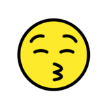Kissing Face with Closed Eyes on OpenMoji 1.0