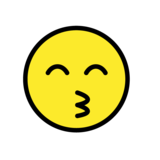 Kissing Face with Smiling Eyes on OpenMoji 1.0