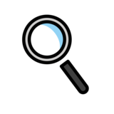 Magnifying Glass Tilted Left on OpenMoji 1.0