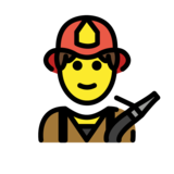 Man Firefighter on OpenMoji 1.0