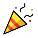 Party Popper on OpenMoji 1.0