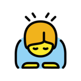 Person Bowing on OpenMoji 1.0