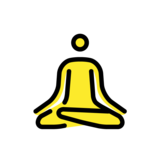 Person in Lotus Position on OpenMoji 1.0