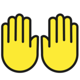 Raising Hands on OpenMoji 1.0
