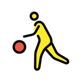 Person Bouncing Ball on OpenMoji 1.0