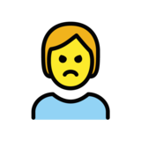 Person Pouting on OpenMoji 1.0