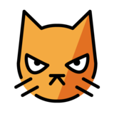 Pouting Cat on OpenMoji 1.0