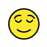 Relieved Face on OpenMoji 1.0