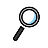 Magnifying Glass Tilted Right on OpenMoji 1.0
