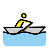 Person Rowing Boat on OpenMoji 1.0
