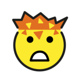 Exploding Head on OpenMoji 1.0