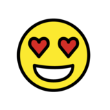 Smiling Face With Heart-Eyes on OpenMoji 1.0