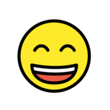 Grinning Face with Smiling Eyes on OpenMoji 1.0