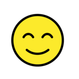Smiling Face With Smiling Eyes on OpenMoji 1.0