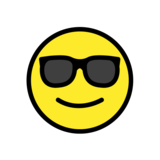 Smiling Face With Sunglasses on OpenMoji 1.0